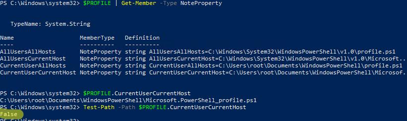 PS1 файлы профилей PowerShell