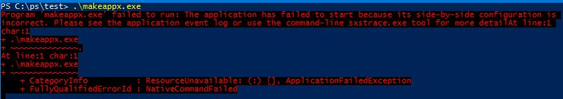 ResourceUnavailable Не удалось запустить приложение, поскольку его параллельная конфигурация неправильна